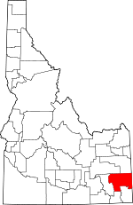 Map of Idaho showing Caribou County - Click on map for a greater detail.