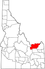 Map of Idaho showing Clark County - Click on map for a greater detail.