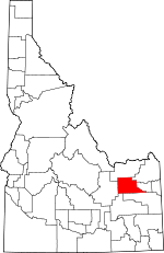 Map of Idaho showing Jefferson County - Click on map for a greater detail.