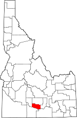 Map of Idaho showing Jerome County - Click on map for a greater detail.