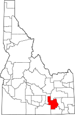 Map of Idaho showing Power County - Click on map for a greater detail.