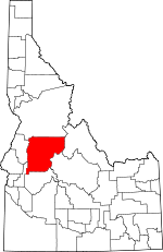 Map of Idaho showing Valley County - Click on map for a greater detail.