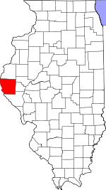 Map of Illinois showing Adams County - Click on map for a greater detail.