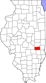 Map of Illinois showing Cumberland County - Click on map for a greater detail.