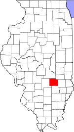 Map of Illinois showing Effingham County - Click on map for a greater detail.
