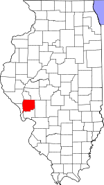 Map of Illinois showing Greene County - Click on map for a greater detail.