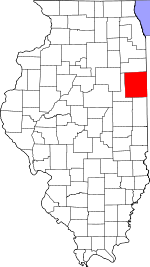 Map of Illinois showing Iroquois County - Click on map for a greater detail.
