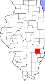 Map of Illinois showing Jasper County - Click on map for a greater detail.