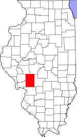 Map of Illinois showing Macoupin County - Click on map for a greater detail.