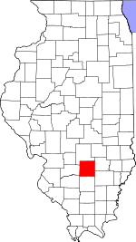 Map of Illinois showing Marion County - Click on map for a greater detail.