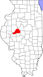 Map of Illinois showing Mason County - Click on map for a greater detail.