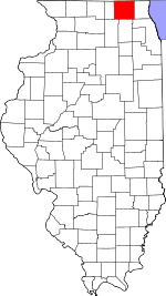 Map of Illinois showing McHenry County - Click on map for a greater detail.