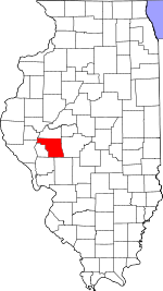Map of Illinois showing Morgan County - Click on map for a greater detail.