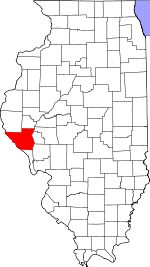 Map of Illinois showing Pike County - Click on map for a greater detail.