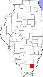 Map of Illinois showing Saline County - Click on map for a greater detail.