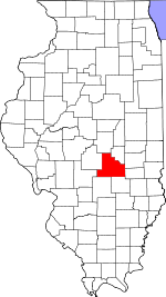 Map of Illinois showing Shelby County - Click on map for a greater detail.