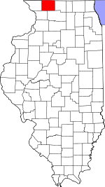 Map of Illinois showing Stephenson County - Click on map for a greater detail.