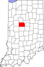 Map of Indiana showing Clinton County - Click on map for a greater detail.