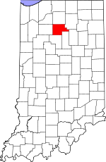 Map of Indiana showing Fulton County - Click on map for a greater detail.