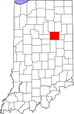 Map of Indiana showing Grant County - Click on map for a greater detail.