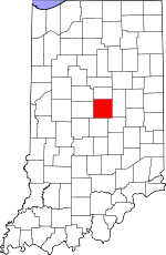 Map of Indiana showing Hamilton County - Click on map for a greater detail.