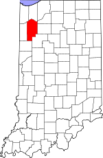 Map of Indiana showing Jasper County - Click on map for a greater detail.