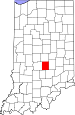 Map of Indiana showing Johnson County - Click on map for a greater detail.