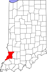 Map of Indiana showing Knox County - Click on map for a greater detail.