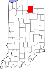 Map of Indiana showing Kosciusko County - Click on map for a greater detail.