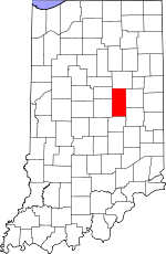 Map of Indiana showing Madison County - Click on map for a greater detail.