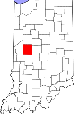 Map of Indiana showing Montgomery County - Click on map for a greater detail.