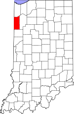 Map of Indiana showing Newton County - Click on map for a greater detail.