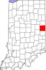 Map of Indiana showing Randolph County - Click on map for a greater detail.