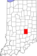 Map of Indiana showing Shelby County - Click on map for a greater detail.