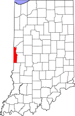 Map of Indiana showing Vermillion County - Click on map for a greater detail.