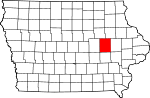 Map of Iowa showing Benton County - Click on map for a greater detail.