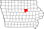 Map of Iowa showing Grundy County - Click on map for a greater detail.