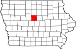 Map of Iowa showing Hamilton County - Click on map for a greater detail.
