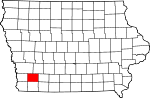 Map of Iowa showing Montgomery County - Click on map for a greater detail.