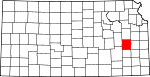 Map of Kansas showing Coffey County - Click on map for a greater detail.