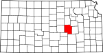 Map of Kansas showing Marion County - Click on map for a greater detail.
