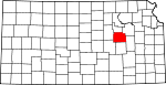 Map of Kansas showing Morris County - Click on map for a greater detail.