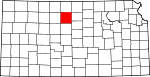 Map of Kansas showing Osborne County - Click on map for a greater detail.