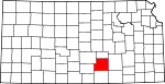 Map of Kansas showing Sedgwick County - Click on map for a greater detail.