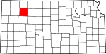 Map of Kansas showing Sheridan County - Click on map for a greater detail.