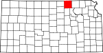 Map of Kansas showing Washington County - Click on map for a greater detail.