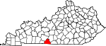 Map of Kentucky showing Allen County - Click on map for a greater detail.