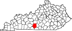 Map of Kentucky showing Barren County - Click on map for a greater detail.