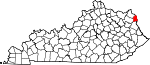 Map of Kentucky showing Boyd County - Click on map for a greater detail.