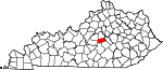 Map of Kentucky showing Boyle County - Click on map for a greater detail.